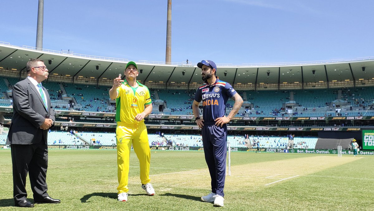 India win toss against Australia in 3rd ODI at Canberra