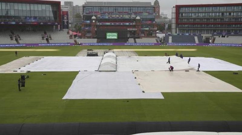 Rain halts India