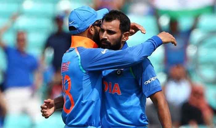 Mohammed Shami fastest Indian bowler to complete 100 wickets in ODIs