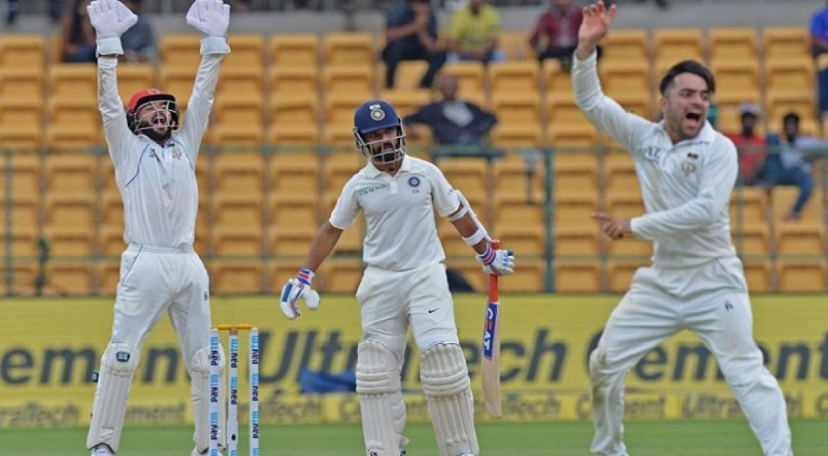 India were 347 for six at stumps on opening day of one-off Cricket Test against Afghanistan