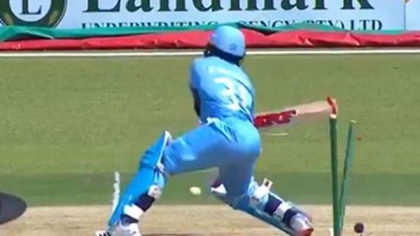 Most bizarre dismissal! Batsman smashes own stumps during CSA Provincial T20 Cup - WATCH