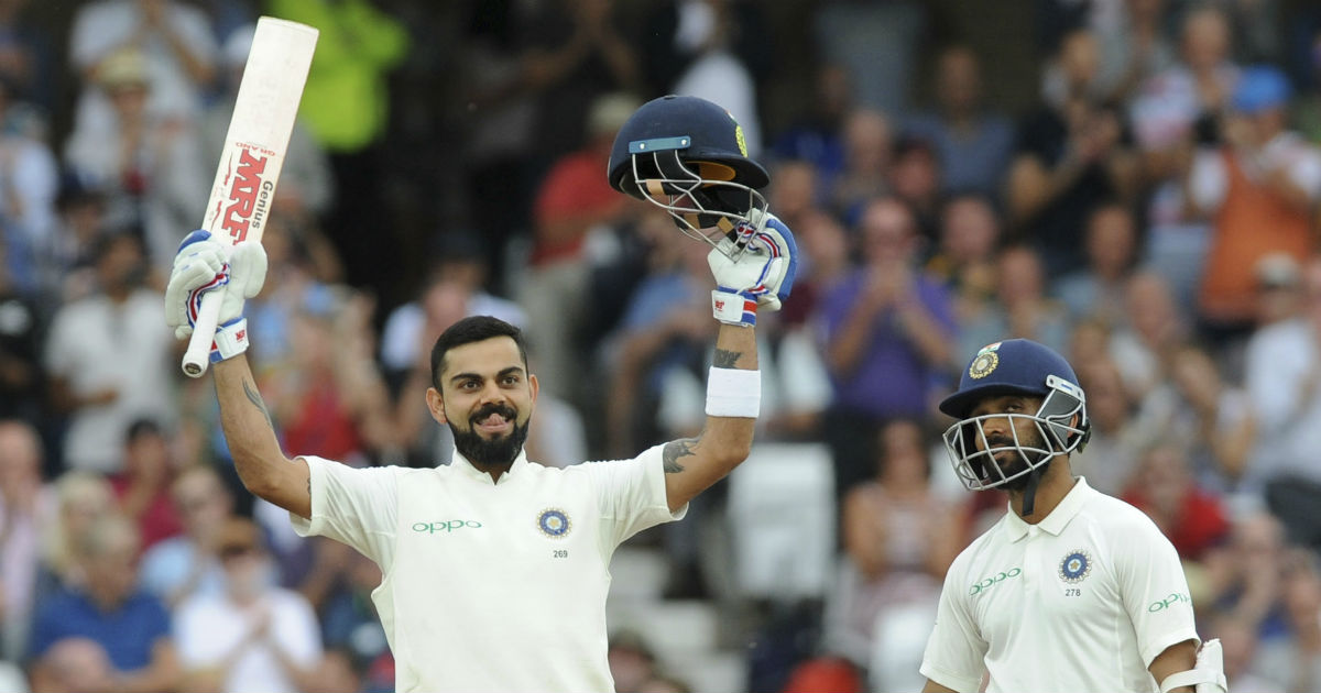 Kohli cracks scintillating century against the West Indies at Rajkot