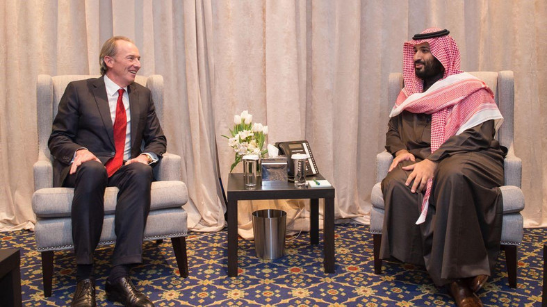 Saudi Arabia Prince Mohammed bin Salman met the CEOs of Morgan Stanley and JPMorgan in New York