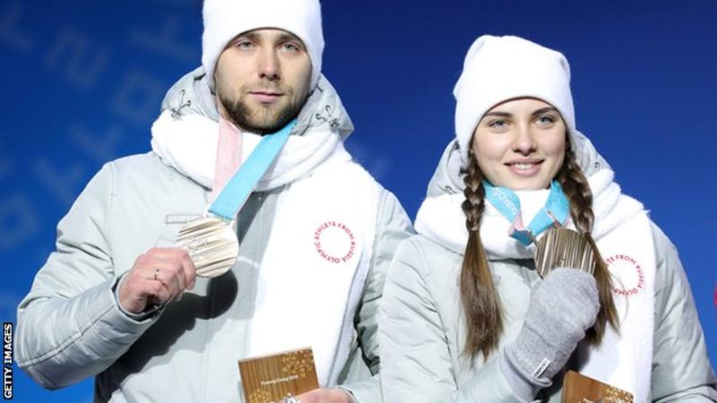 Russian curler Alexander Krushelnitsky won mixed-doubles bronze with wife Anastasia Bryzgalova,