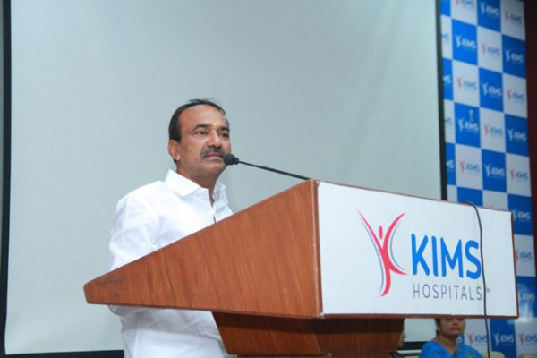 Health Minister Etela Rajender inaugurates nursing at KIMS