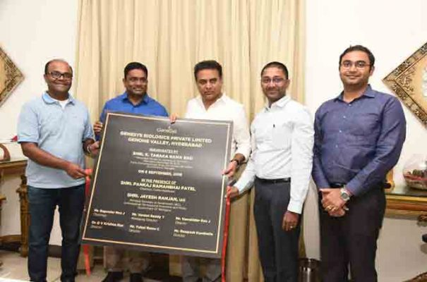 KTR rolls out projects worth Rs.800 cr in Genome Valley