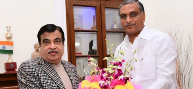 T Harish Rao meets Nitin Gadkari in New Delhi