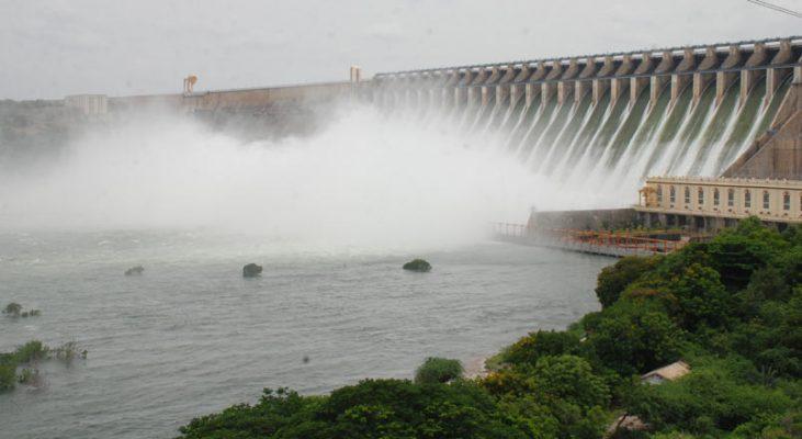 10 crest gates of Nagarjuna Sagar dam lifted