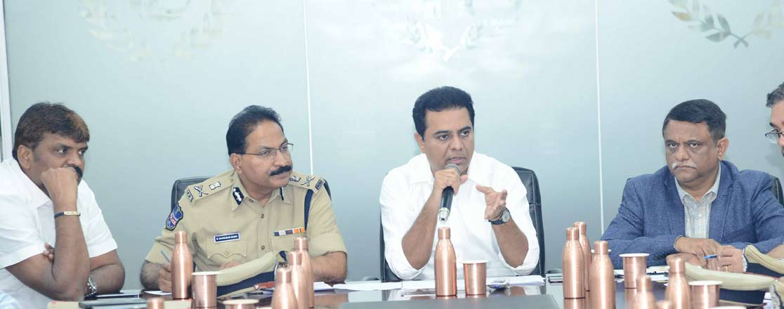 KTR says better road facilities connecting metro, MMTS will be developed on par with international standards