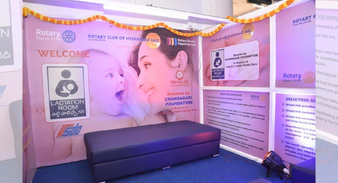 Baby feeding kiosk set up at Secunderabad Railway Station