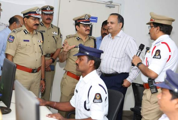 CS Joshi inspects Command and Control Centre in Hyderabad