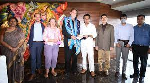 KTR meets German, Uzbek envoys in Hyderabad
