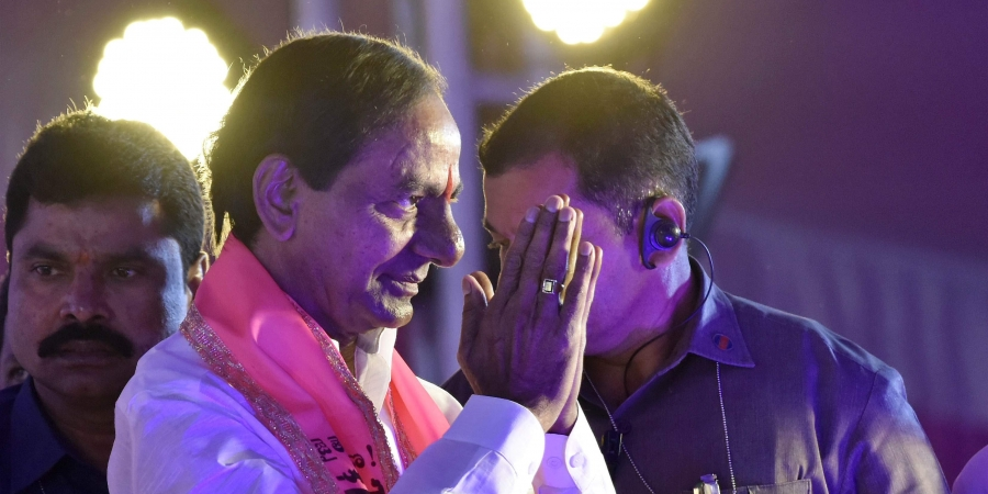 CM K Chandrasekhar Rao first to take oath