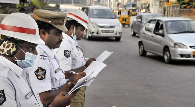 threaten for city bandh on harassing  in the name of compulsory helmet rule