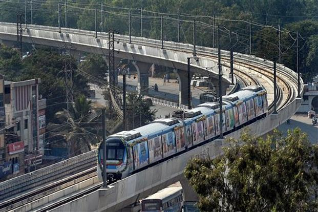 Hyderabad metro to run train for every three minutes