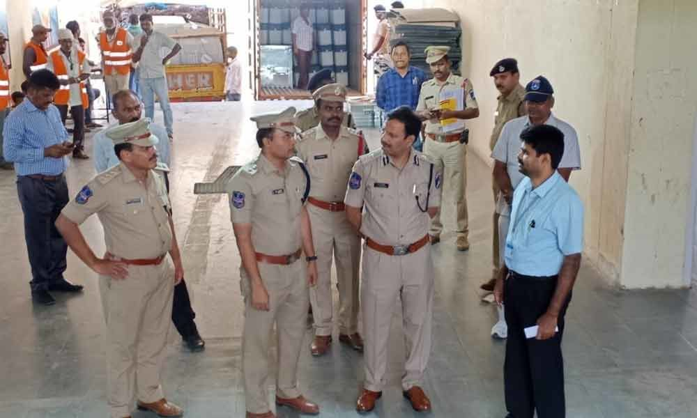 CP Sajjanar inspects strong rooms in Hyderabad