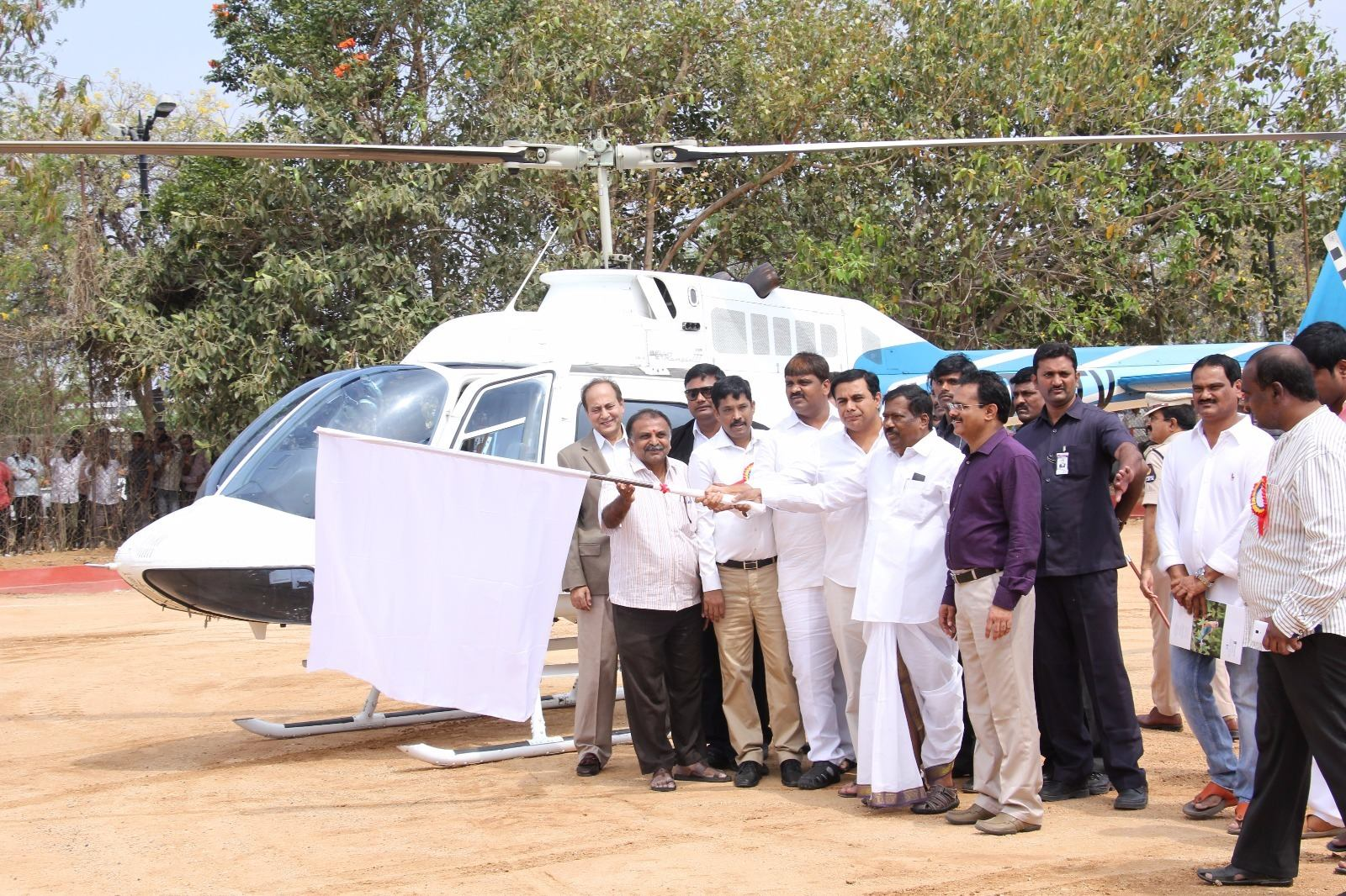 KTR launches Heli Tourism in Hyd