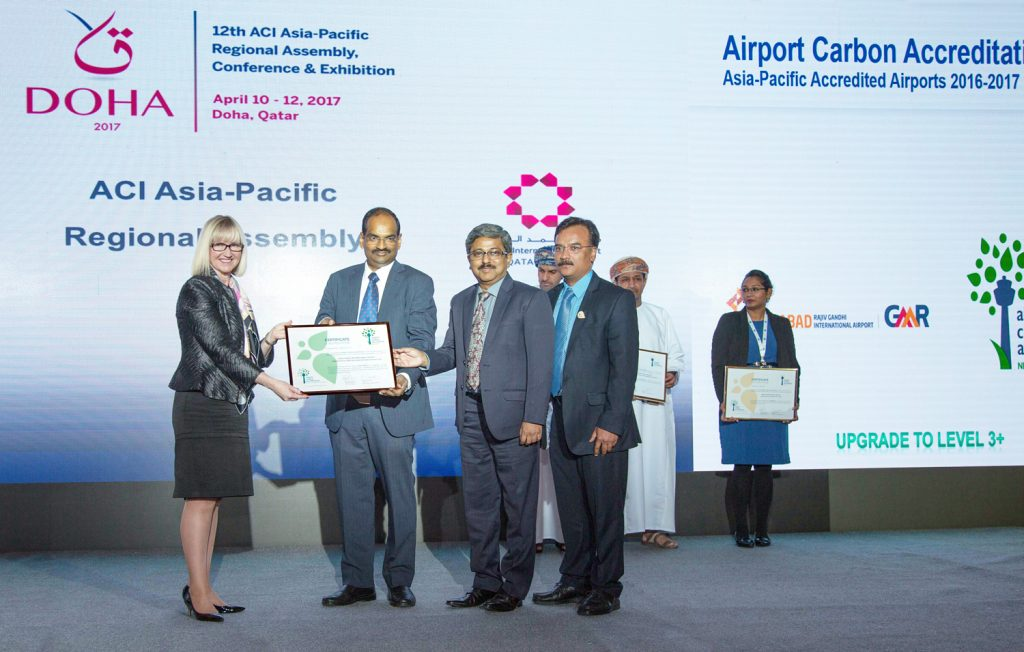 Hyderabad airport receives carbon neutrality recognition