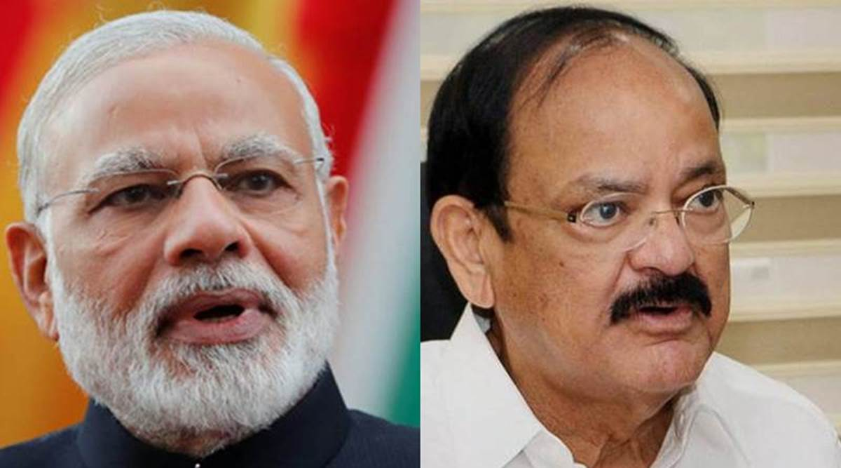 Vice President M Venkaiah Naidu, PM Narendra Modi greet people on Telangana statehood day