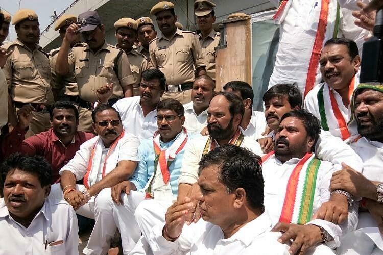 Tension at Dharna Chowk in Hyderabad, two injured