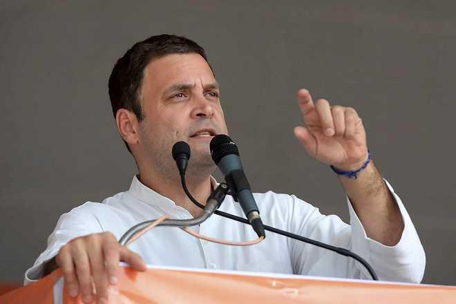 Modi, KCR diluted tribal rights law: Rahul Gandhi