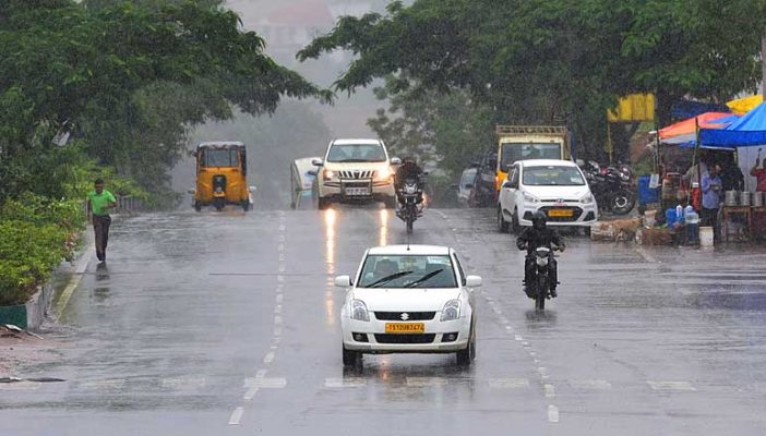 Intermittent rains lashed Hyderabad
