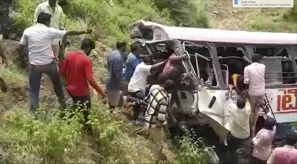 Man driving Telangana bus that fell into gorge was awarded best driver last month