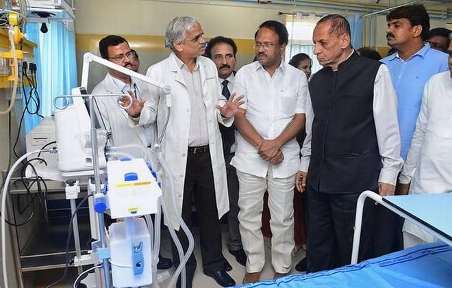 ESL Narsimhan inaugurates 65-bed ICU at Gandhi Hospital
