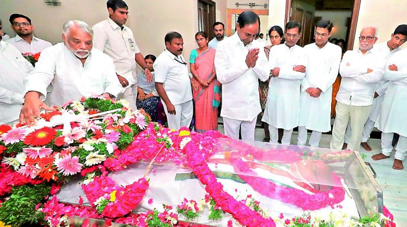 KCR announces state funeral for S Jaipal Reddy today