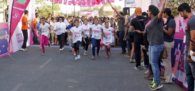 7000 women participate at Pinkathon
