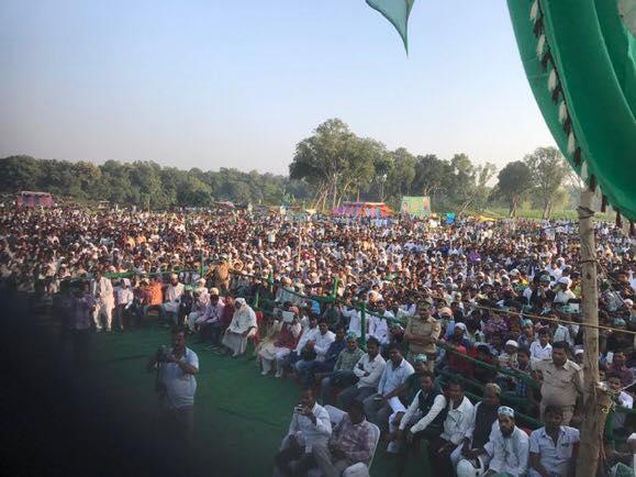 Asaduddin Owaisi Addressing public meeting at Pachmadwa Balrampur, UP