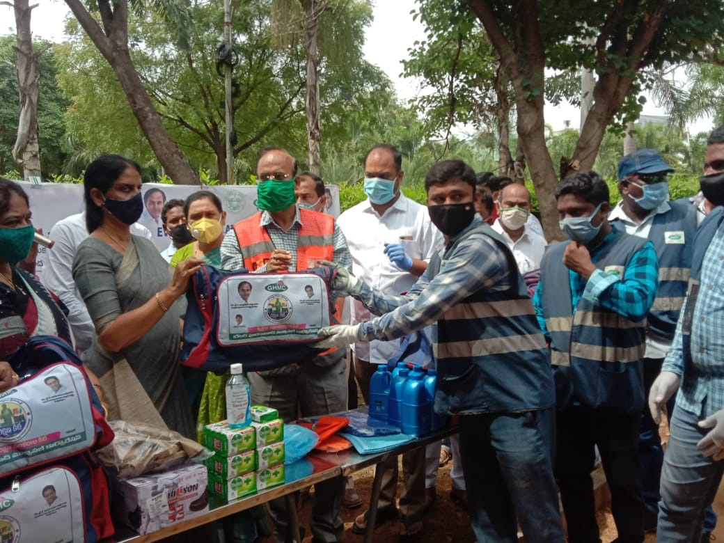 All GHMC frontline staff get PPE kits