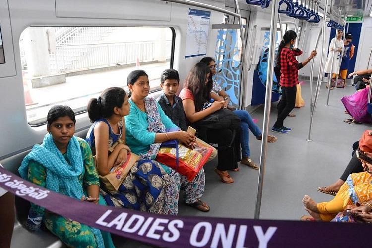 Hyderabad metro opens women