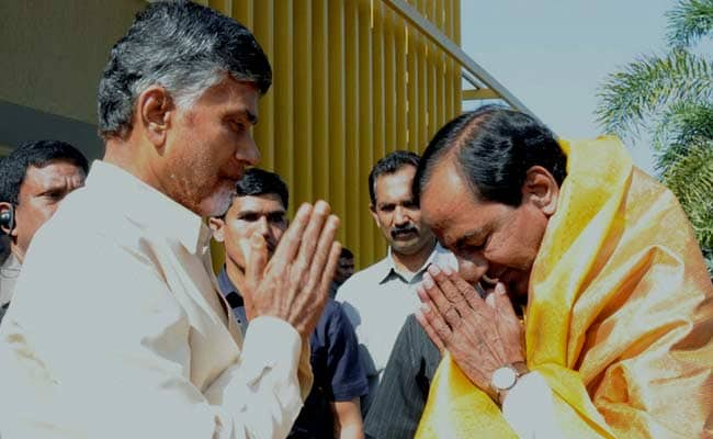Chandrababu Naidu congratulates KCR on retaining power in Telangana