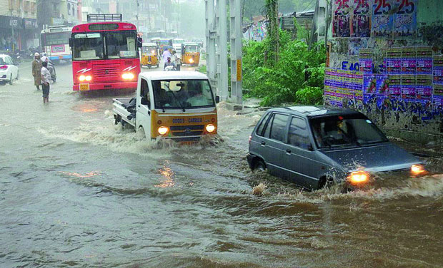 Highest rainfall of 19 cm records at Navipet in Nizamabad district on Monday