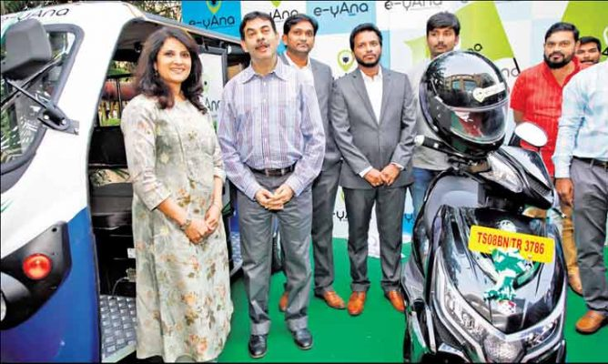 E-vehicle taxi service launched in Telangana