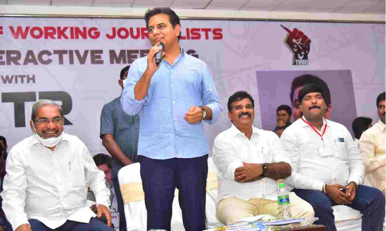 House sites, health cards for journalists soon: KTR