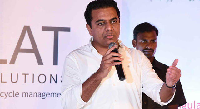 KTR inaugurates new IT firm in Hyderabad