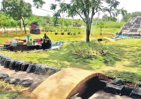 KCR Bhagiratha park attracts visitors in Karimnagar