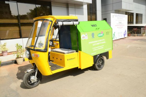 GHMC launches electric auto for garbage collection