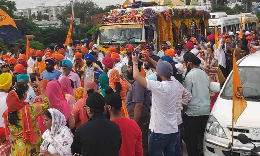 Guru Nanak Parkash Yatra enters Hyderabad
