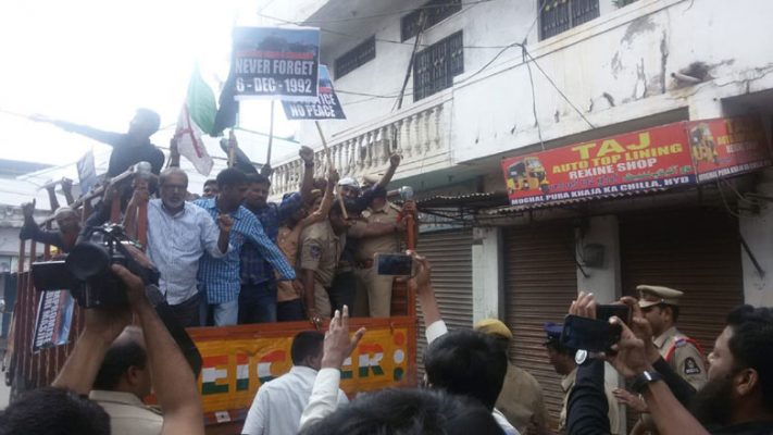Black Day passed off peacefully in Hyderabad