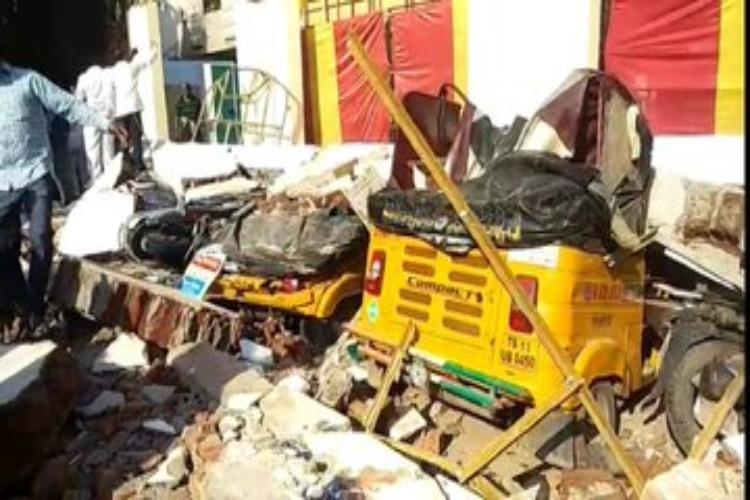 4 people killed in function hall wall collapse in Golnaka, Amberpet
