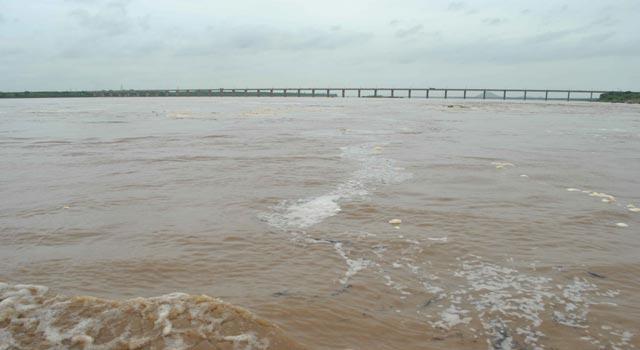Godavari river in spate in Telangana