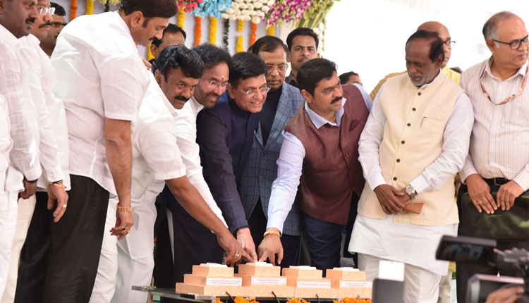 Piyush Goyal lays stone for Cherlapally satellite terminal