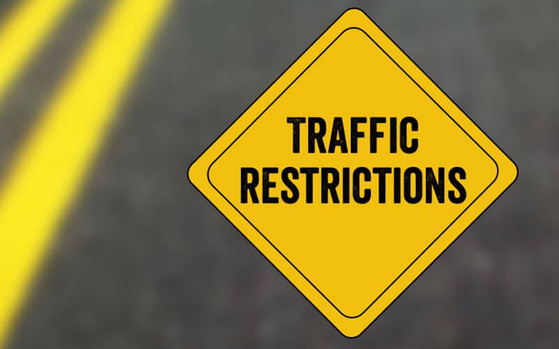 Traffic restrictions for KCR