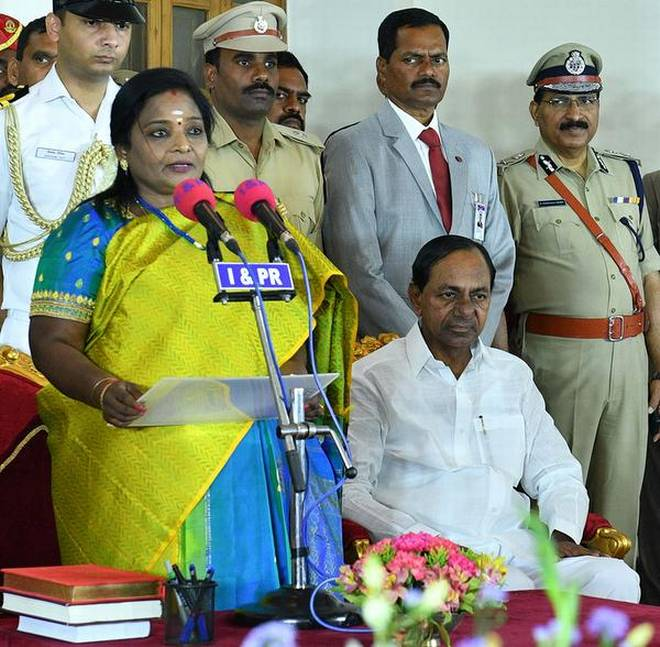 T Soundararajan takes over as Telangana Governor