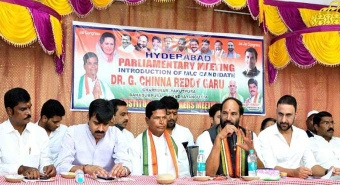 KCR neglected Old City: Uttam Kumar Reddy