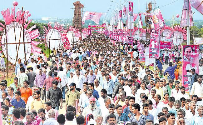 TRS public meeting at Wanaparthy today