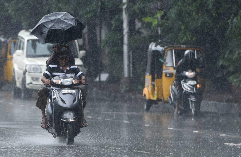 Heavy rains lashed Telangana State